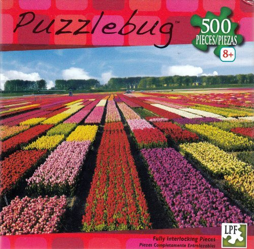 Puzzlebug 500 pc Field of Tulips Netherlands - 1