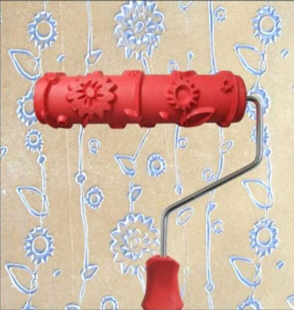 Greek Art 7 DIY Patterned Paint Roller Decorative Rubber Roller Decorative Art Roller Texture Roller with Plastic Handle - More Than 300 Patterns (Pattern P2) (Color: Pattern P2, Tamaño: 7 Inch)