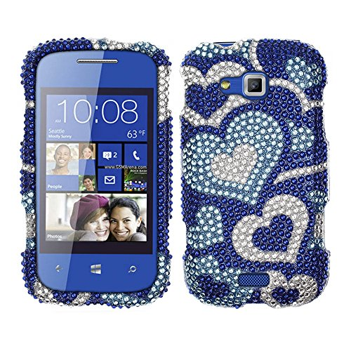 Click to buy Fincibo (TM) Bling Crystal Full Rhinestones Diamond Case Protector For Samsung ATIV Odyssey I930 - Blue Pattern Hearts - From only $26.99