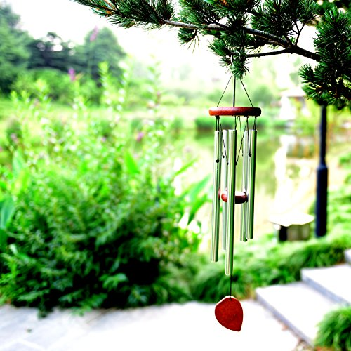 "BEAUTIFUL WIND CHIMES - Well Made 22"" Wood Windchimes Deliver Rich, Full, Relaxing Tones - Best Large Wooden Wind Chime For Outdoor Patio - Music To Your Ears - SATISFACTION GUARANTEE!"