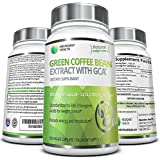 Pure Green Coffee Bean Extract with Clinically Studied GCA® - 1,600mg per day - Highest Concentration of CGA's Standardized to 50% Chlorogenic Acids for Weight Control - 120 Veggie Capsules - Manufactured in a USA based FDA Approved GMP Certified Laboratory exclusively for Abundant Health