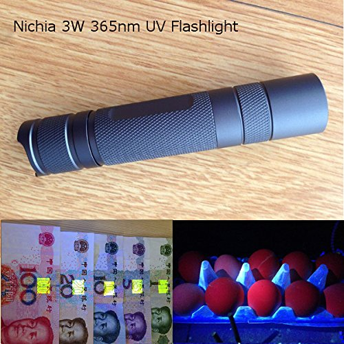 Nichia 3W High Power DIY LED Flashlight 1*18650 (Titanium gray)