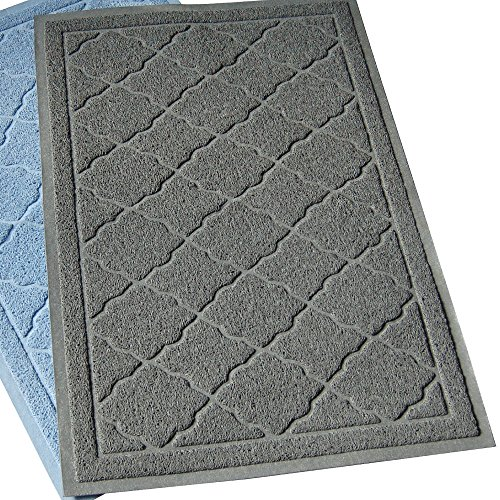Easyology Premium Cat Litter Mat – XL Super Size – Best Extra Large Scatter Control Kitty Litter Mats for Cats Tracking Litter Out of Their Box – Soft to Paws- (Patent Pending) (Light gray)