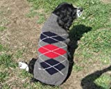 Chilly Dog Wool Argyle Sweaters 3 Colors 100% wool Medium Grey