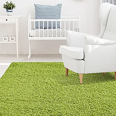 iCustomRug Affordable Shaggy Rug Dixie Cozy & Soft Kids Shag Area Rug Solid Color For Children's Play Area, Bedroom or Nursery Carpet