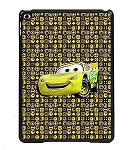 PRINTVISA Cartoon Car Premium Metallic Insert Back Case Cover for Apple IPad 6 - D5713