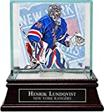 Henrik Lundqvist New York Rangers Hockey Puck Glass Display Case with Nameplate - Authentic Signature