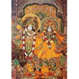 "Dolls Of India ""Radha Govinda"" Reprint On Paper - Unframed (69.22 X 48.90 Centimeters)"