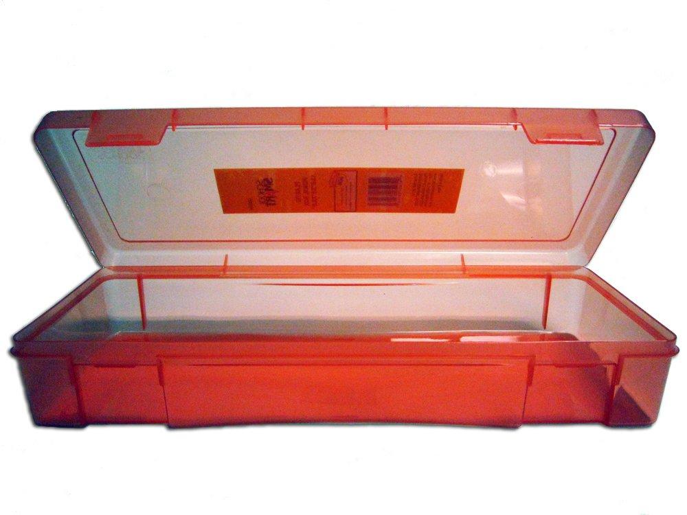 amazoncom school smart plastic pencil box 13 12 x 5