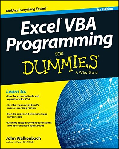 Excel VBA Programming For Dummies (Vba Programming 2010 compare prices)