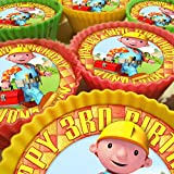 Bob the Builder Cupcake Toppers 20 x 5cm PERSONALISED Edible on Icing Sheet with HIGH RESOLUTION BACKGROUND IMAGE