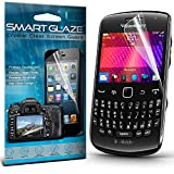 Crystal Clear Premium LCD Screen Protectors Packs With Polishing Cloth & Application Card For The Blackberry Curve 9360 by Smart Glaze®