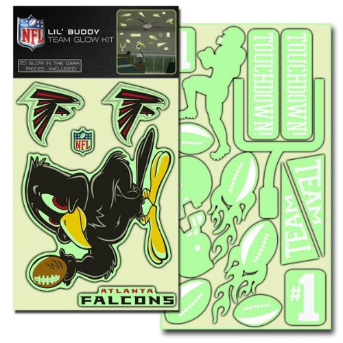Atlanta Falcons Lil' Buddy Glow In The Dark Decal Kit front-184828