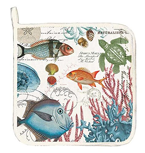 Michel Design Works Cotton Potholder, Sea Life