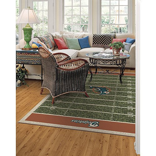 Milliken & Company Miami Dolphins 3-Ft. 10-In. x 5-Ft. 4-In. Homefield Area Rug