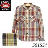(ウエス) UES 501551 先染ヘビーネルシャツ フランネル 長袖 ワイン ネイビー アメカジ 2 ネイビー
