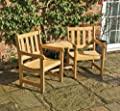 Solidwood Garden Furniture Companion Set Seat Jack & Jill Bench Chairs Parasol