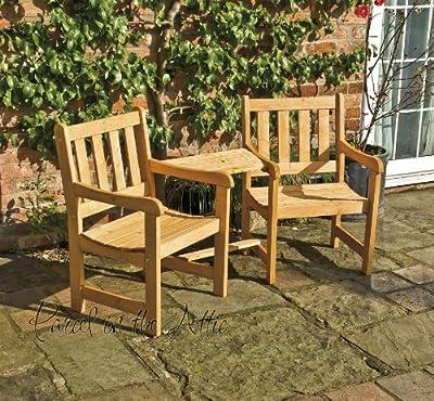 Solidwood Garden Furniture Companion Set Seat Jack & Jill Bench Chairs Parasol