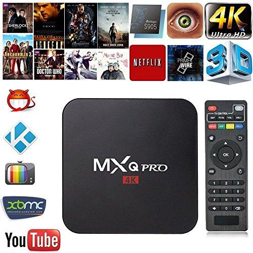 Ranphy MXQ Pro TV Box – Android 5.1 with All Channels Amlogic S905 Quad-Core 4K HD KODI Box Smart TV ShowBox Streaming Media Player