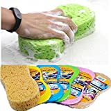 #10: HOME CUBE® Super Absorbent Cleaning Sponge Scrubber For Car Cleaning / Home Cleaning Purpose 1 Piece. (Random Colors)