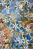 Pellicola per finestre clematide 61 x 92 cm con effetti di luce