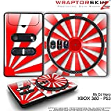 DJ Hero Skin Rising Sun Red fit XBOX 360 and PS3 (DJ HERO NOT INCLUDED)