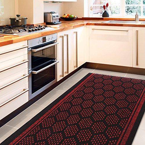 tapis de couloir casa pura bilbao rouge feutre aiguillet cuisine salon couloir haute. Black Bedroom Furniture Sets. Home Design Ideas