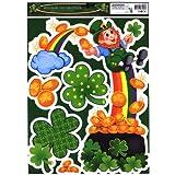 Pot O' Gold & Shamrocks St. Patrick's Window Clings