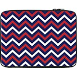 Snoogg Blue Red Pattern 2541 12 To 12.6 Inch Laptop Netbook Notebook Slipcase Sleeve