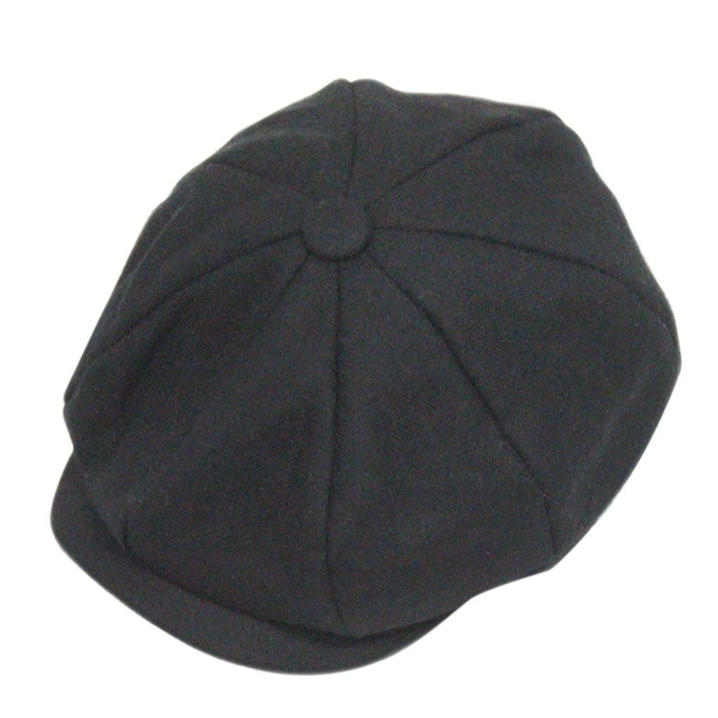 Unisex Winter Warm Baker Boy Newsboy Flat Cap Cheviot Tweed Beret Ivy Cabbie Cap Hat 0