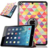 ULAK PU Leather Case for Apple iPad Mini and the New iPad Mini 2 with Retina Display(2nd Generation)Slim-Fit Smart Case Cover with Auto Sleep/Wake Function (In love with)