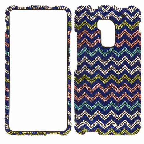 Cell Armor Snap-On Case for HTC One Max - Retail Packaging - White/Yellow/Pink Chevron