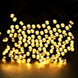 [Upgraded] InnoGear® 65Ft Long 200 LED Outdoor String Lights Solar Powered Waterproof Starry Fairy Lighting Christmas Decoration Flashing Light for Patio Gardens Wedding Party Holiday Landscape (Warm White)
