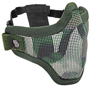Half Face Métal Mesh Net Masque de protection extérieure Airsoft