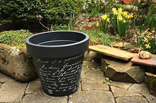 Blumentopf Blumenkübel Pflanzentopf Pflanzenkübel Modell Old Letter - Kunststoff - anthrazit - verschiedene Größen (ø - 30 cm)