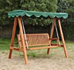 Outsunny 3 Seater Wooden Wood Garden...