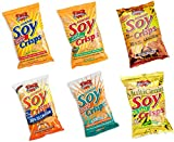 Glennys Soy Crisps, 6 Flavor Variety Pack, 1.3 Ounce Bags (Pack of 18)