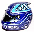 AUTOGRAPHED 2016 Jimmie Johnson #48 Team Lowes Racing (Beam Designs) Hendrick Motorsports Signed Lionel 1/3 Scale NASCAR Replica Collectible Mini Helmet with COA (Limited Edition!)