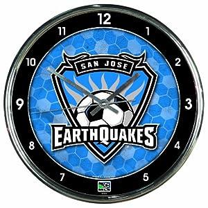 MLS San Jose Earthquakes Chrome Clock by WinCraft