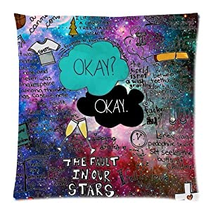 custom the fault in our stars pillow cases 18x18 two side
