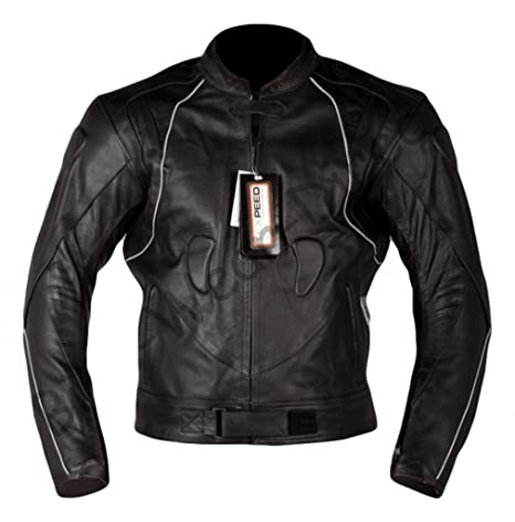 Qualité approuvée CE blindée de moto en cuir emballant la veste