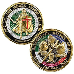 Put On The Whole Armor Of God (Ephesians 6:13-17) Challenge Coin (Eagle Crest 2424)