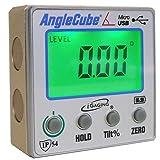 iGaging 35-2269 Angle Gage BACKLIT Digital Electronic Magnetic Level/Protractor/Bevel Gauge Angle Cube Gen 3 (Tamaño: BackLit LCD Display)