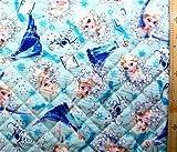 <Qキャラクター・キルティング生地>アナと雪の女王(エルサ柄)(ブルー)#7