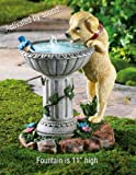 Collections Etc - Playful Puppy Birdbath Garden Fountain