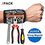 2pcs Magnetic Wristband Tool Belt with 15 Strong Magnets for Holding Screws, Nails, Drill Bits Cool Tools for Holiday Gifts, DIY, Handyman, Electricians, Home Projects (Color: Camouflage)