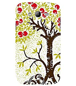 abstract apple tree in a white background 3D Hard Polycarbonate Designer Back Case Cover for Samsung Galaxy Grand Neo :: Samsung Galaxy Grand Neo i9060