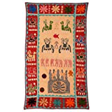 Rajrang Home Décor Embroidered Patch Work Beige Wall Hanging
