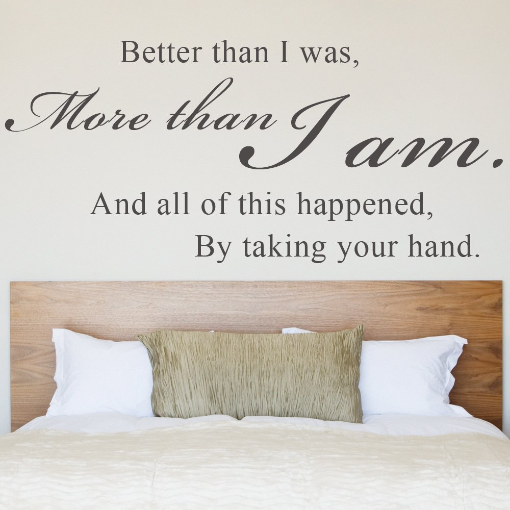 Wall Decal Sticker Vinyl Art Quote Bedroom Romantic