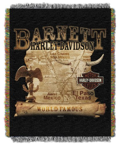 Harley-Davidson Southwest Map Throw Blanket - One Size front-836478